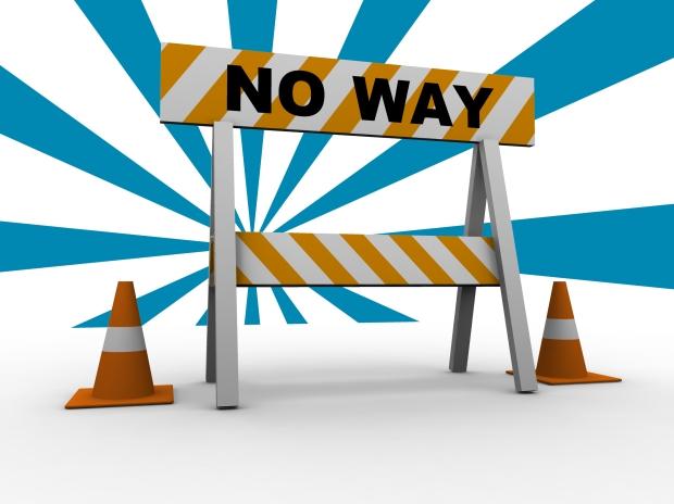 Road-block No Way